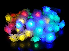 4M 40 LED Colorful Fairy String Light Battery Operated Rose Styled for Christmas Partys Wedding New Year Decorations etc(China)