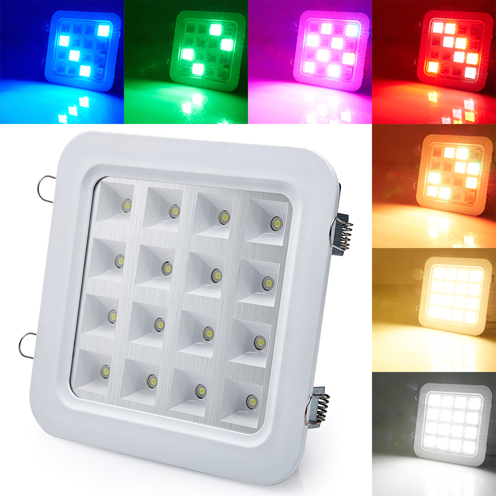 New Sound Activated Control 16W SMD5050 LED Panel DownLight Disco Party DJ Home Lamp Music Show Strobe Projector Stage Lighting<br><br>Aliexpress