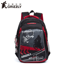 GRIZZLY Russia Kids Cartoon Bags Children Schoolbags for Boys Orthopedic Waterproof Backpacks Primary School Bags for Grade 1-4(China)