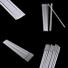 10pcs Stainless Steel Nylon Straw Cleaning Brush Drinking Pipe Tube Cleaner Baby Bottle Clean Tools(China)