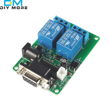 5V 2-CH RS232 Serial Control Relay Switch Board SCM PC Relays(China)