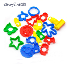 18pcs/lot Plasticine Mold Clay Animal Tool Kit Intelligent Plasticine Sand Cheap Polymer Clay Mold Set Educational Toy For Kid
