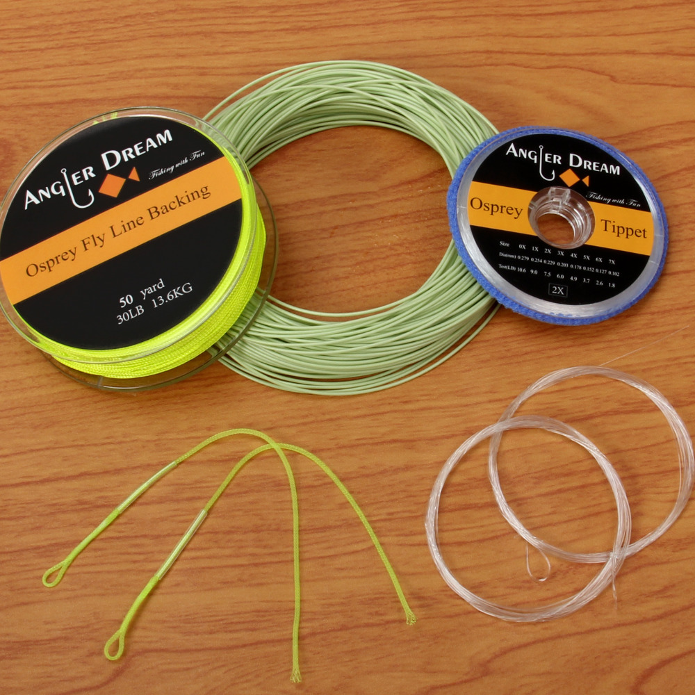 Salmon//Steelhead Fly Fishing Line Moss /& Yellow WF6F 7F 8F Floating 2Welded Loop