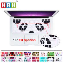 HRH ESP Silicone Spanish Animal Decal Keyboard Cover Protector For Macbook Air Pro 13 15 17 Protector for Macbook keyboard SpanI(China)
