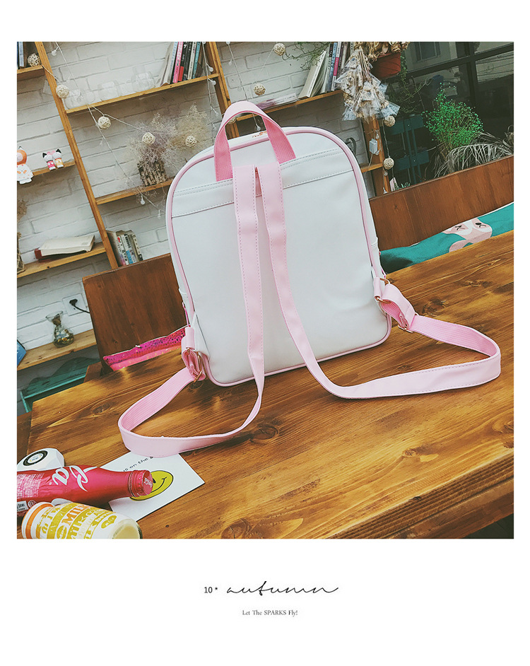 Cute Clear Transparent Bow Backpack Ita Bag Harajuku School Bags For ... c9f9b2f7fd31