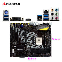 BIOSTAR B350GT5 Gaming Racing Motherboard RGB LED For AMD ATX Ryzen 1800X 1700X DDR4 Hi-Fi 7Phase Power Supply Desktop Computer(China)