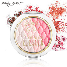BABY GAGA Makeup Cheek Blush Powder 3 Colors Waterproof Long-Lasting Blush Maquiagem Face Makeup Palette Beauty Brand Cosmetics