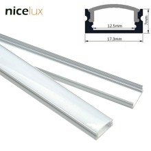 5set 1.6ft 0.5m/set U-Shape LED Strip Aluminum Channel Profile for 8mm 10mm 12mm 3528 5050 LED Bar Light Housing with Cover(China)