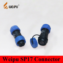 Weipu SP17 Connector 2 3 4 5 7 9 10 Pin Docking Male Plug+ Female In-Line Cable Connector  Dust Cap SP1710/P* & SP1711/S*
