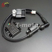 Ignition Coil + CDI UNIT + Regulator Rectifier 125cc 150cc 200cc 250cc 300cc PIT PRO Quad Dirt Bike ATV Buggy T-moto