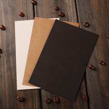 20pcs Set DIY Black White Brown Kraft Paper Blank Greeting Cards For Flower Valentine Card Message Cards Postcards Suppliers