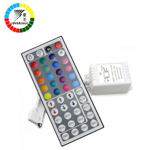 Coversage RGB Controller LED controller 44 key IR Remote Control + Controller Applicable to 3528 or 5050 RGB LED strip(China)