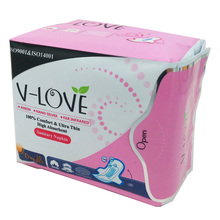 VLOVE Sanitary Napkins with Wings for Women with Patented Anion Chip Single Pack 10Pieces