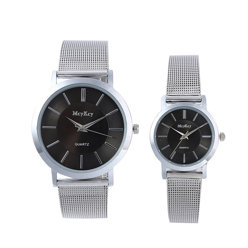 2017 McyKcy New Style Fashion Simple Lovers Casual Quartz Watch Women Quartz Watch Stainless Steel Couple Watch Hodinky Relogio <br><br>Aliexpress