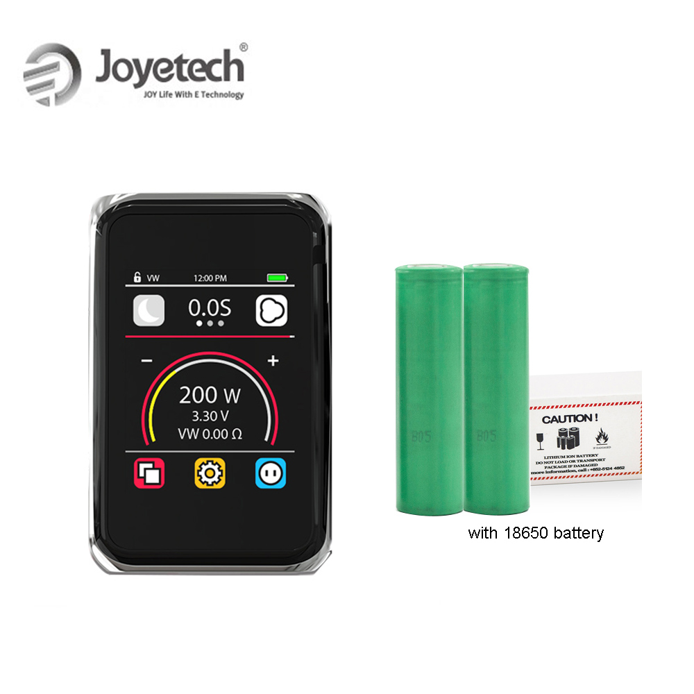 100% Original Joyetech Cuboid PRO Mod Kit with dual 18650 battery Touch Panel Screen 200W Wattage Electronic Cigarette