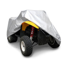 Silver M-XXXL 190T Waterproof Cover Quad ATV Vehicle Scooter Motorbike Cover Universal