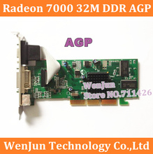 Free Shipping Brand New  ATI Radeon 7000 32M DDR VGA/DVI/TVO AGP VIDEO CARD in stock