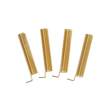 (100pcs/lot) Wireless RF Spring Small Antenna 315MHz SW315-TH23 Golden Color 2.15 dBi