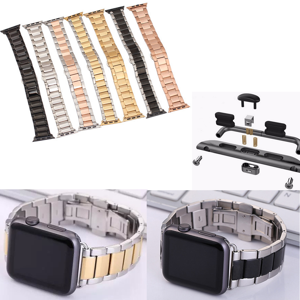 DAHASE LSZ 7 Colors Stainless Steel Bracelet Wrist Strap For Apple Watch Series 2 Watch Band For iWatch Apple Watch 42mm 38mm<br><br>Aliexpress