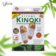 Retail box 10Boxes Cleansing Detox Foot Kinoki Pads Cleanse Energize Your Body(1lot=10Box=200pcs=100pcs Patches+100pcs Adhesive)(China)
