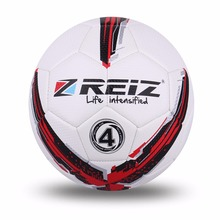High Quality Official Size 4 Standard PU Soccer Ball Training Football Balls Indoor&Outdoor With Gift Net Needle Red Blue(China)