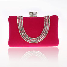 2016 New Design Hot Pink Totes Party Evening Bag Fashion Women's Wallet Style Chain Handbag Clutch Banquet Mini Bag Bolso 7309