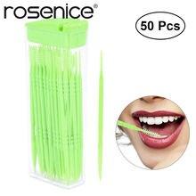 ROSENICE 50 piezas Dental portátil dientes cepillo Interdental Oral de  plástico palillos con caja (Color al azar) 051672d30488