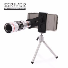 SSRIVER 7 in 1 Mobile Phone Lens 18xZoom optical Telescope telephoto Lens with tripod For iphone 6 Plus Samsung Galaxy S7 Note 5(China)