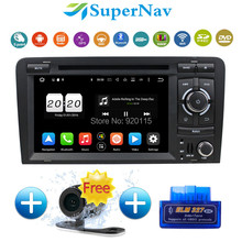 1024*600 Octa Core 2 Din Android 6.0.1 Car navigation system fit for Audi A3 S3 2006-2013 with Radio DVD GPS navigation system