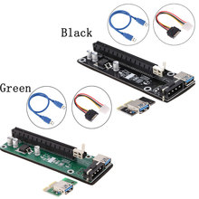 USB 3.0 PCI-E PCI Express 1x to 16x Extender Riser Board Card Adapter with SATA Power Cable & USB Cable