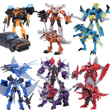 7 pieces/set 4 Toys Anime Action Figures Dragon Model Deformation Robot Cars Brinquedos boy Toys Juguetes gifts(China)