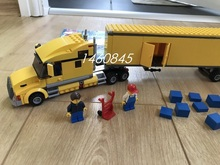 02036 City Yellow Truck car Building Blocks Bricks Transportation Truck Model Assemble Toys Children boy New Year Gift(China)
