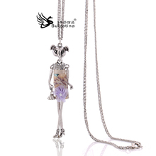 Long Chain Red Nobility Of Popular Style Metal Doll Necklace, The Quality Of The Romantic Style The New