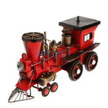 Decorative Red Metal Steam Locomotive Train Tender Car(China)
