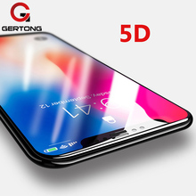 Buy GerTong 5D Curved Premium Tempered Glass iphone 8 7 6 6s Plus X Full Cover Screen Protector Film iPhone X 10 Glass for $2.69 in AliExpress store