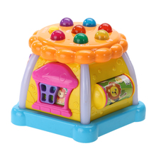 Colorful LED House Kids Child Study Developmental Whack-a-mole Game Toy Baby Educational Learning Machine(China)