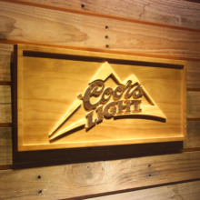 Coors Light Beer 3D Wooden Sign(China)