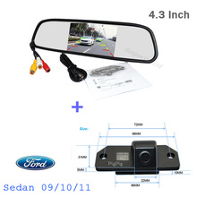 Auto CCD rearview camera For Ford/focus 3 Hatchback 09/10/11 Parking system 4.3 Car Mirror monitor TFT LCD Digital Screen Kit