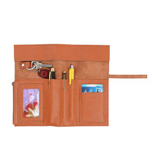Genuine Leather Pen Holders Brown Color Pencil Holder Desk Accessories Office Desk Accessores New Style porta lapiz