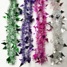 Christmas  tinselGarland ribbon celebration party kindergarten classroom top festival decoration color decorate the shop 2meters