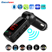 Upgraded Car MP3 Audio Player FM Transmitter Wireless FM Modulator Bluetooth Car Kit HandsFree USB Charger for iPhone Samsung