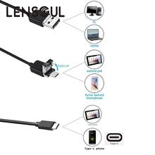 lensoul 5m 8mm Lens USB/Micro USB/Type C 3in1 Endoscope Widely Used Inspection Video Camera Camcorder  for Android Phone&PC