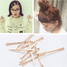 10 Pcs/Pack 5.5 cm length simple Gold Color Barrette Girls' hairpin Side Hair Clips Women Hair Accessories Drop shipping