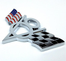3D Metal US USA America Flag V8 Emblem Styling Sticker Universal Badge Decal Fit for Ford Chevrolet Dodge Jeep etc.