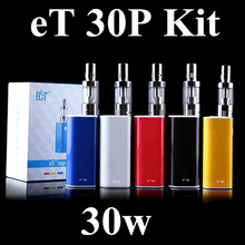 ECT original mechanical box mod et30p kit 30W E cig vaporizer mini fog kit airflow control 2200mah et 30P electronic cigarette