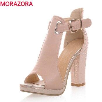 2017 hot moda verão sandálias sexy peep toe sapatos de casamento das mulheres sapatos de salto alto sapatos de plataforma mulher fivela sandálias para mulheres
