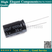 5PCS 35 V / 1000 UF Electrolytic capacitor 1000UF 35V 35V 1000UF Size 13*21MM Aluminum electrolytic capacitor(China)