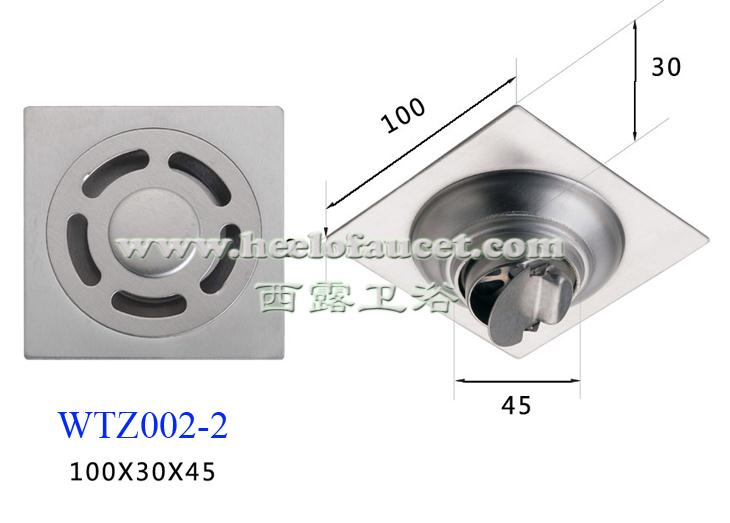 Bathroom 4 201 stainless steel self-sealing water trap dual-function anti-odor washing machine floor drain<br>