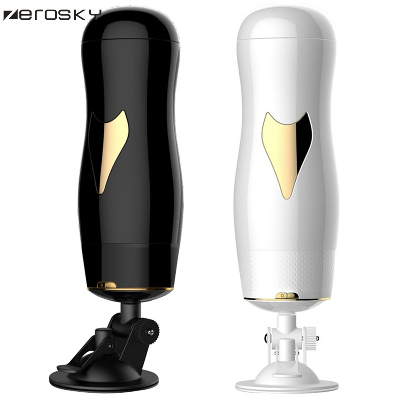 Zerosky Smart Aircraft Cup Auto Telescopic Rotating Real Voice Masturbator Male Vagina Real Pussy Sex Toy Men