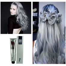 100ml Professionalize Personal Light Gray Color Permanent Super Dye Hair Cream Hair Color Non-toxic DIY Hair Style Grey